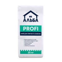 """Клей для плитки та каменю Альба """"Profi"""" 25 кг"""