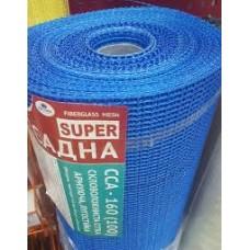Сетка армирующая 160 мг/м2 (шир.100см) синяя ССА (50м2)