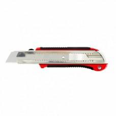 25 мм, выдвижное лезвие, усиленная металлическая направляющая, металлическая прорезиненная ручка, MTX MASTER